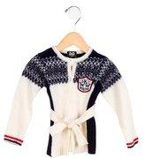 Dolce & Gabbana Girls' Patterned Belted Jacket