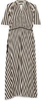 Petar Petrov Striped Jersey Midi Dress - White