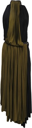Proenza Schouler Pleated Two-tone Stretch-jersey Midi Dress