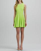 Nanette Lepore Super Slide Fit-and-Flare Dress, Lime