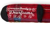 Dearfoams Plaid Blizzard Slipper Sock with EyeMask