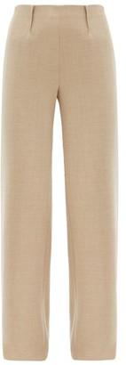 Altuzarra Luther Wool-blend Wide-leg Trousers - Beige