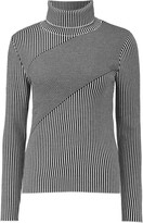 Carven Striped merino wool turtleneck sweater