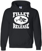 Go All Out Screenprinting Adult Fillet And Release Funny Fishing Sweatshirt Hoodie