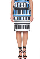 ELOQUII Plus Size Abstract Printed Pencil Skirt