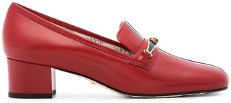 Gucci Red And Blue Ginger 45 Leather Pumps
