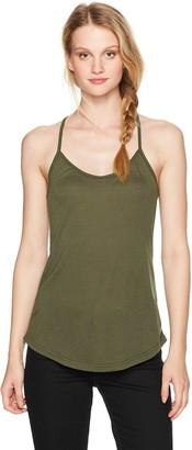 Angie Women's Army Green Racer Back Cami Large