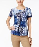 JM Collection Jacquard-Print Top, Only at Macy's
