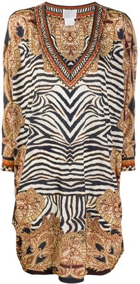 Camilla Zebra-Print Loose Dress
