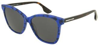 Alexander McQueen Women's Mq0061s 55Mm Sunglasses