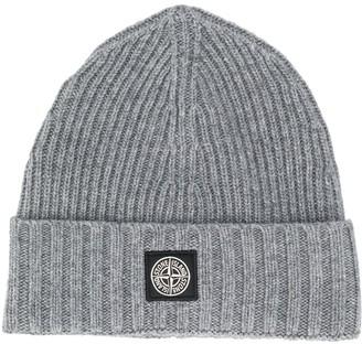 Stone Island Junior Logo Patch Beanie Hat