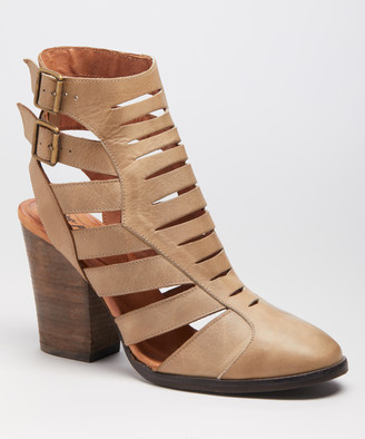 Free People Women's Casual boots NATURAL - Natural Hayes Heel Leather Boot - Women
