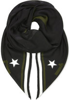 Givenchy Star 17 Cashmere-blend Scarf