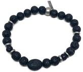 Ettika Men's Black Hero Lava Stone Bracelet