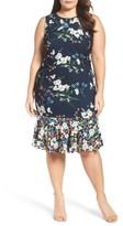 Eliza J Plus Size Women's Mixed Floral A-Line Dress