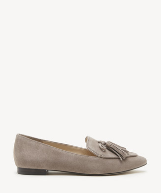 Sole Society Women's Hadlee Tassel Loafers Fall Taupe Size 5 Suede From