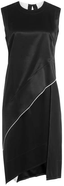 DKNY Asymmetric Dress with Satin
