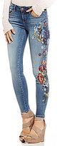 William Rast Embroidered Perfect Skinny Jeans