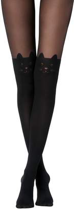 Calzedonia Bow and Cat Over-Knee Tights