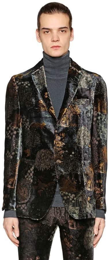 Etro Printed Viscose & Silk Velvet Jacket