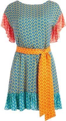 Alice + Olivia Ella Mae Tie Waist Mini Dress