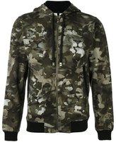 Versus camouflage print zipped hoodie