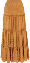 Missoni Metallic Crochet-knit Maxi Skirt - Gold