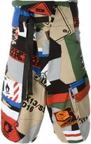 Kokon To Zai collage print shorts