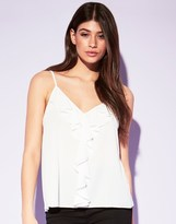 Lipsy Frill Front Cami Top