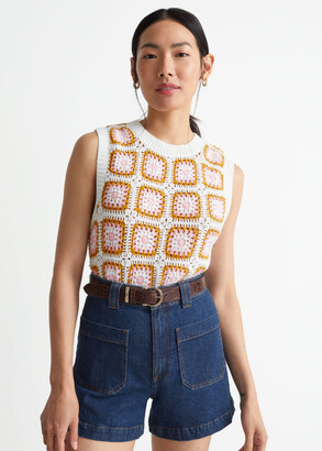 And other stories Square Motif Crochet Vest