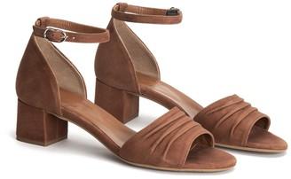 Aquatalia Edele Suede Ankle Strap Sandal