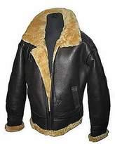 Infinity Men's Flying B3 Real Shearling Ginger Sheepskin Leather Bomber Jacket L
