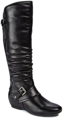 Bare Traps Pabla Wide Calf Tall Shaft Wedge Boot