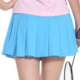 TopTie Girls Field Skort, Pleated Tennis Skirt, Short Skirt with Athletic Shorts-M