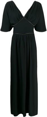 Amen Crystal-Embellished Long Dress