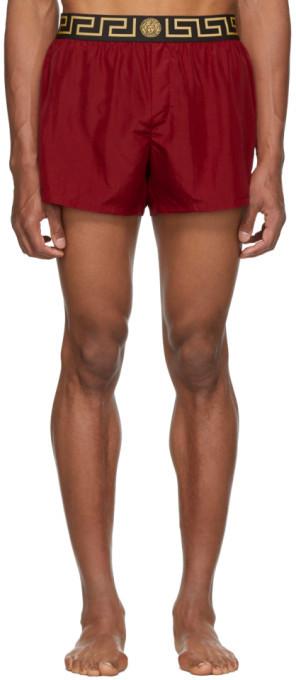 a8d835fdf8 Underwear Red Greek Key Border Swim Shorts