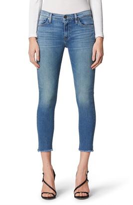 Hudson Jeans Nico Raw Hem Crop Skinny Jeans