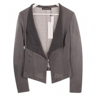 Guido Maria Kretschmer Grey Leather Jacket for Women
