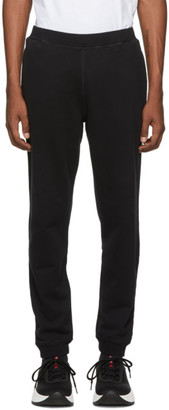 Sunspel Black Cotton Loopback Track Pants