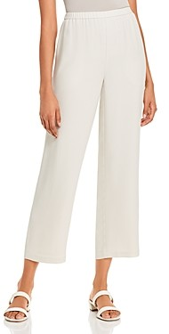 Eileen Fisher Petite System Silk Straight-Leg Pants