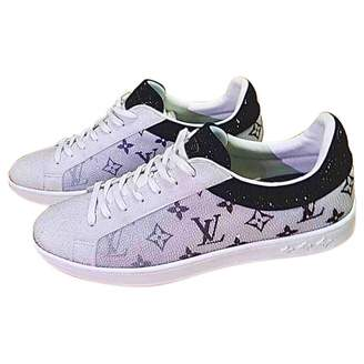 Louis Vuitton Luxembourg White Glitter Trainers