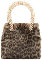 SHRIMPS Una leopard-print faux-fur bag