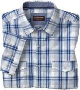Johnston & Murphy Windowpane Double-Pocket Shirt