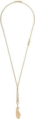 Annoushka 18kt yellow gold Mythology diamond sycamore seed necklace