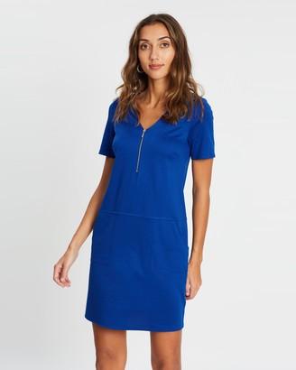 Wallis Exposed Zip Ponte Dress