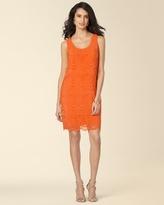 Soma Intimates Sleeveless Eyelet Layered Shift Dress Orange