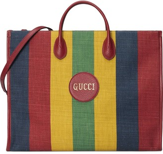 Gucci Striped Tote Bag