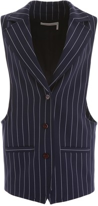 See by Chloe Pinstriped Vest