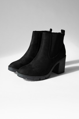 Topshop Womens Byron Black Suede Boots - Black