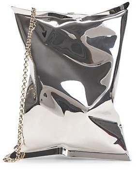 Anya Hindmarch Crisp II Metal Crossbody Pouch